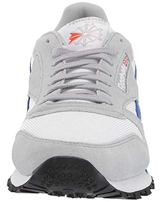 Mu Sneakers Leather Classic Low Reebok Gray White Top S wkXiuPTOZ