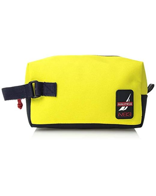 72a99f68fc16 Nautica - Yellow Canvas Toiletry Bag Travel Kit Organizer for Men - Lyst ...