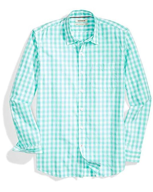 Goodthreads - Green Standard-fit Long-sleeve Large-scale Gingham Shirt for Men - Lyst