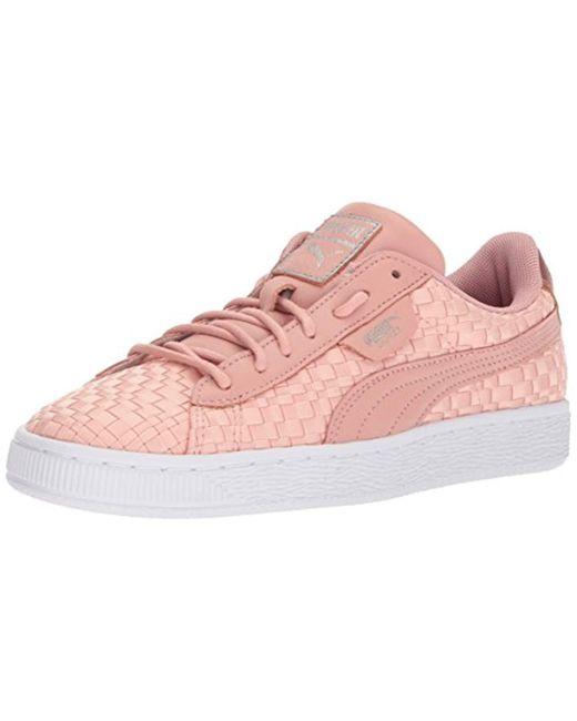 109d0209e048a Lyst - PUMA Basket Satin En Pointe Wn Sneaker in Pink - Save 61%