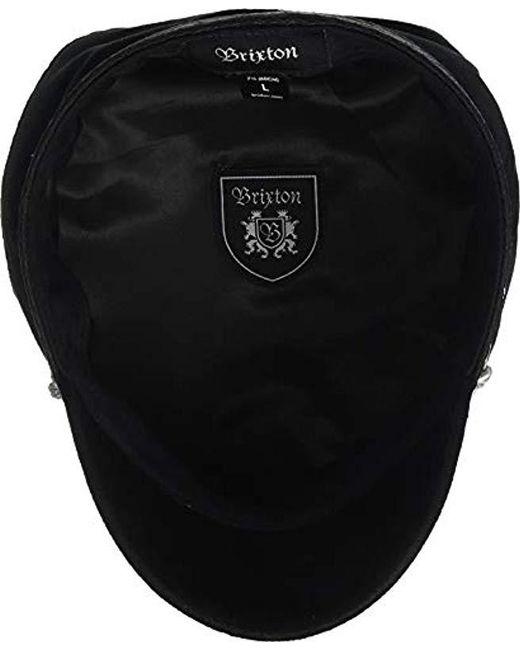 6df51be4355 ... Brixton - Black Albany Greek Fisherman Hat for Men - Lyst ...