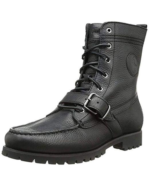 finest selection 97b67 dbf61 Polo Ralph Lauren - Ranger Boot, Black for Men - Lyst ...