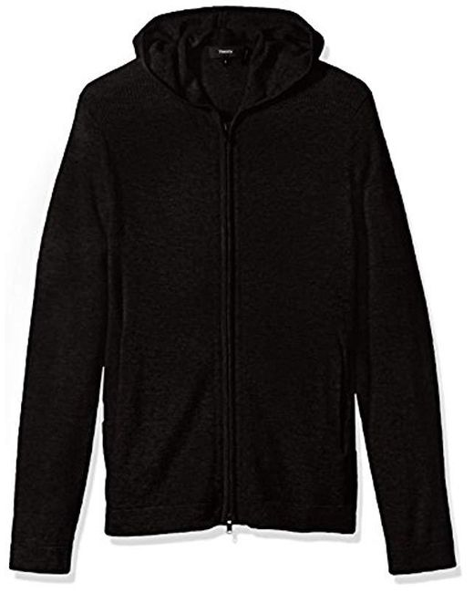 Theory - Black Kamero Sd Aires Fzip Hood for Men - Lyst