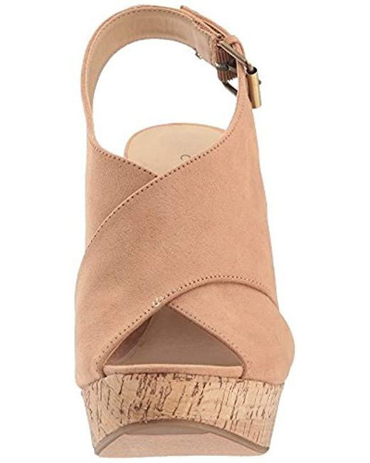 2b52127aa01bff Lyst - Chinese Laundry Myya Wedge Sandal in Natural - Save 43%