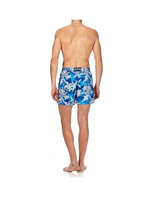 c387106f99 ... Vilebrequin - Blue Moorea Starlets & Turtles Swim Trunk for Men ...