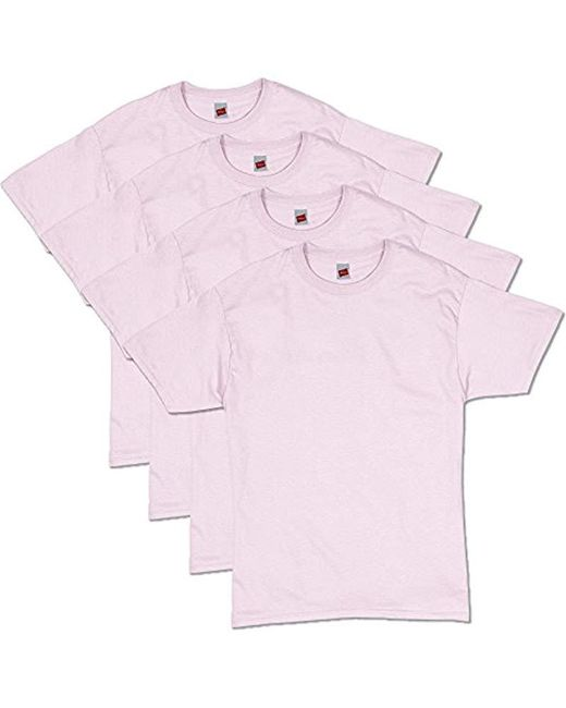 Hanes - Pink Comfortsoft Short Sleeve T-shirt (4 Pack ) for Men - Lyst