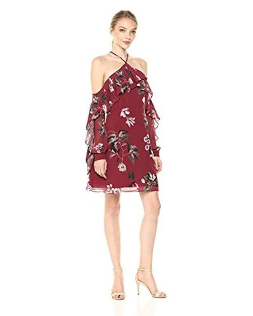 Keepsake - Red Last Dance Off The Shoulder Long Sleeve Short Dress - Lyst