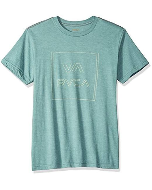 RVCA - Green Pinner All The Way Short Sleeve T-shirt for Men - Lyst