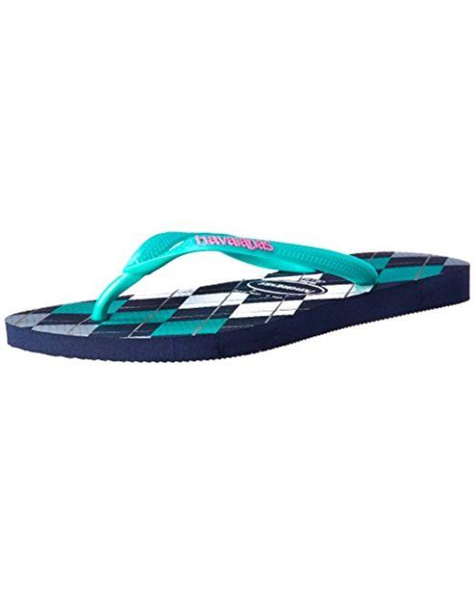 a9d7ecc29 Lyst - Havaianas Slim Retro Flip Flop Sandal in Blue - Save 50%