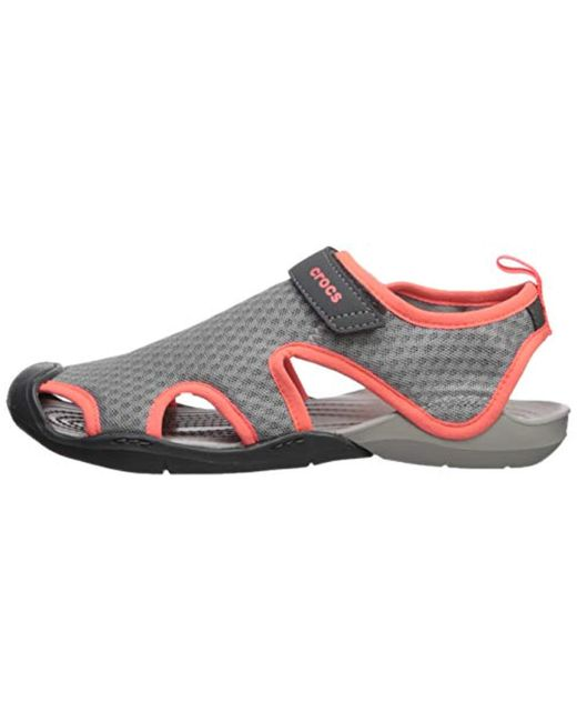 ffe5cc7b39a3 ... Crocs™ - Gray Swiftwater Mesh Sandal - Lyst ...