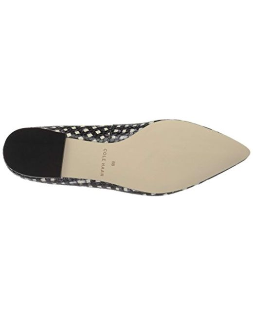 421818e5d ... Cole Haan - Multicolor Alice Bow Skimmer Pointed Toe Flat - Lyst ...