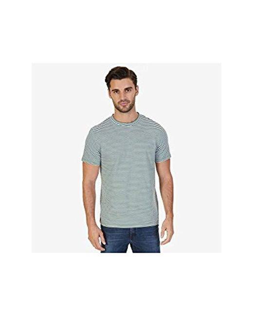 66e9999b54 Nautica - Multicolor Short Sleeve Slim Fit Striped Crew Neck T-shirt for Men  ...