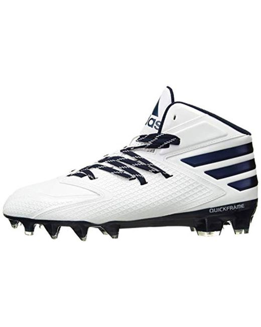 69d01655e ... Adidas - White Performance Freak X Carbon Mid Football Shoe for Men -  Lyst ...
