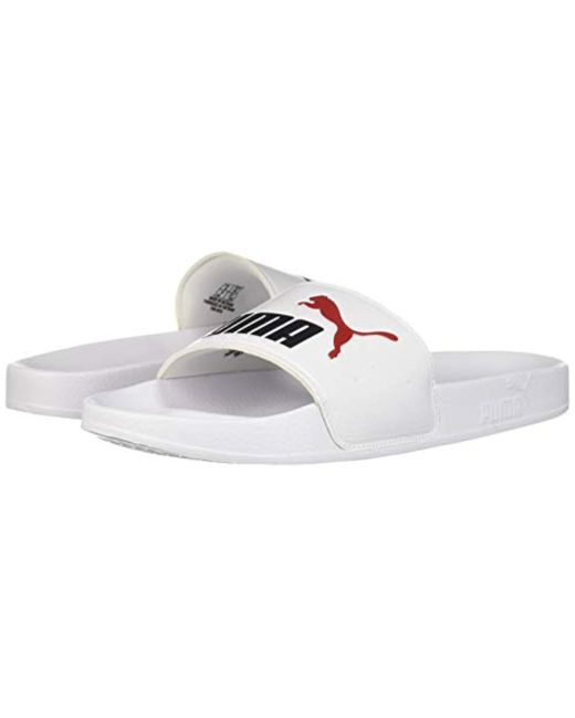 ... PUMA - White Leadcat Slide Sandal for Men - Lyst ... 9dcc669eb