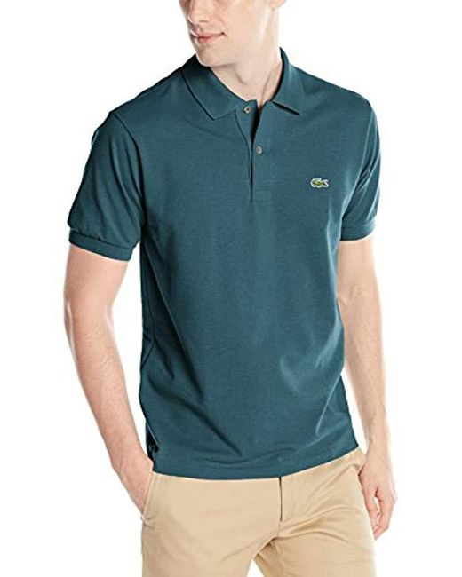 Lacoste - Blue Short Sleeve Classic Chine Fabric L.12.64 Original Fit Polo Shirt, X-small for Men - Lyst