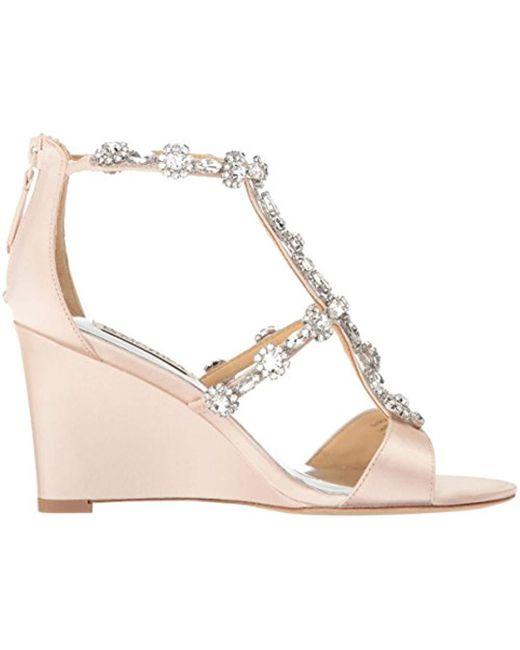 14c1c3d74cc Lyst - Badgley Mischka Tabby Wedge Sandal in Pink - Save ...