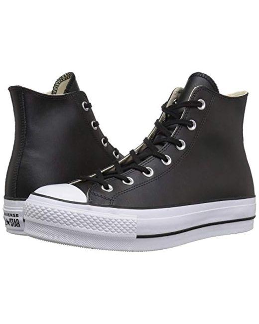 6e6ccbe9481 ... Converse - Black Chuck Taylor All Star Lift Clean Hi-top Trainers -  Lyst ...