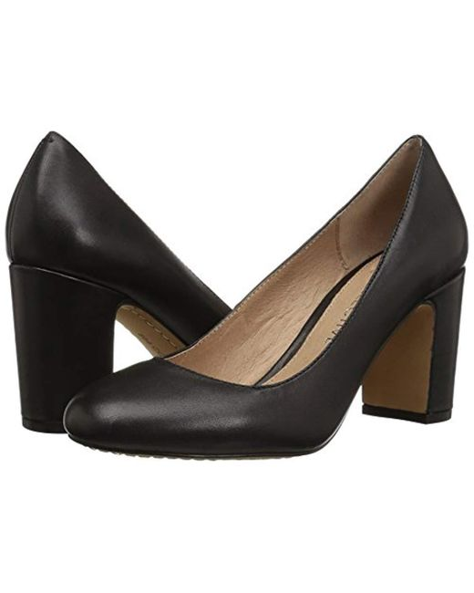 66998cc33 ... 206 Collective - Black Coyle Round Toe Block Heel Pump-high - Lyst ...