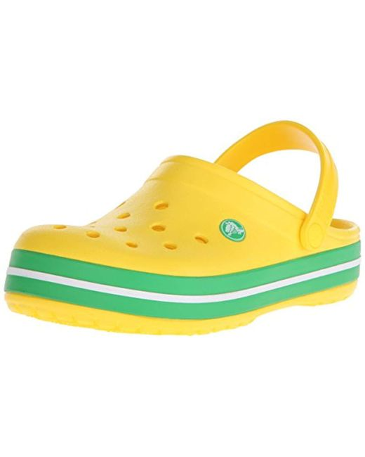 Crocs™ - Yellow And Crocband Casual Comfort Slip On Clog, Lightweight Water Shoe - Lyst