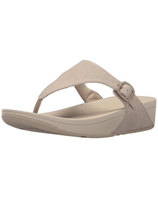 Fitflop - Natural The Skinny Canvas Toe Thong Flip Flop - Lyst