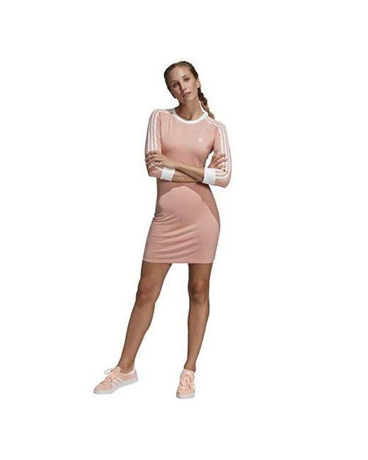 c1b20f4f334 Adidas Originals - Pink 3-stripes Dress - Lyst ...
