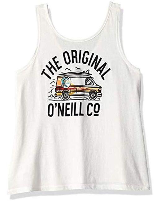O'neill Sportswear - Multicolor Vanster Graphic Screen Print Tank Top - Lyst