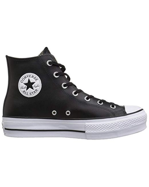 786f39faf802 ... Converse - Black Chuck Taylor All Star Lift Clean High Top Sneaker -  Lyst ...