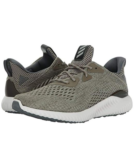 8702a81aea545 ... Adidas - Gray Alphabounce Em M Running Shoe Olive trace Cargo grey One
