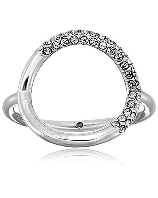 Michael Kors - Metallic Brilliance Banded Circle Ring - Lyst