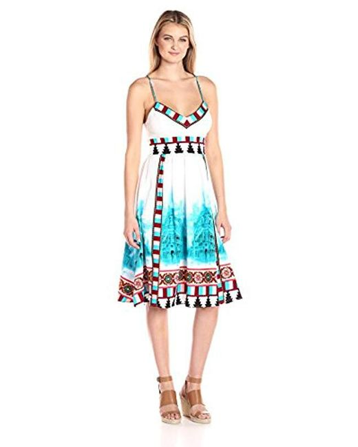 Plenty by Tracy Reese - Blue Placement Front Dress - Lyst