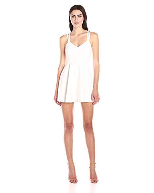 French Connection - White Whisper Ruth Strappy Fit-and-flare Dress - Lyst
