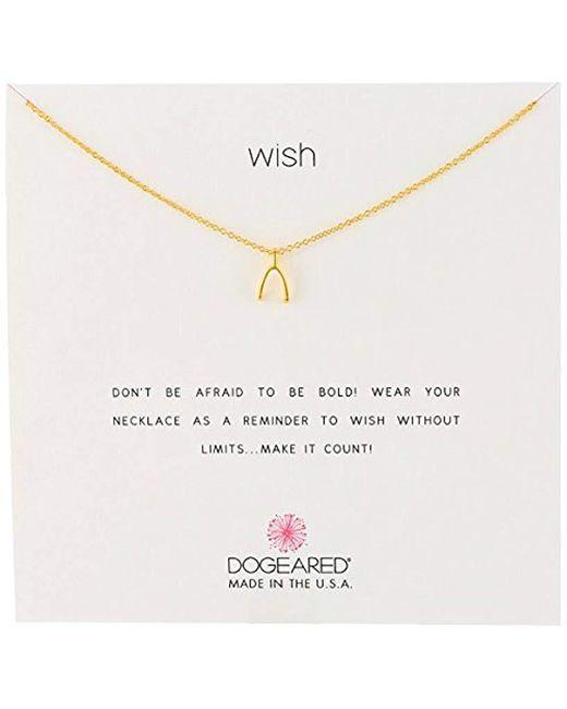 "Dogeared - Metallic Reminder Wishbone Chain Necklace, 16"" - Lyst"