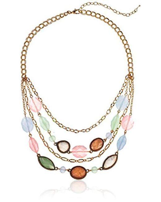 Napier - Multicolor Tone Multirow Necklace - Lyst