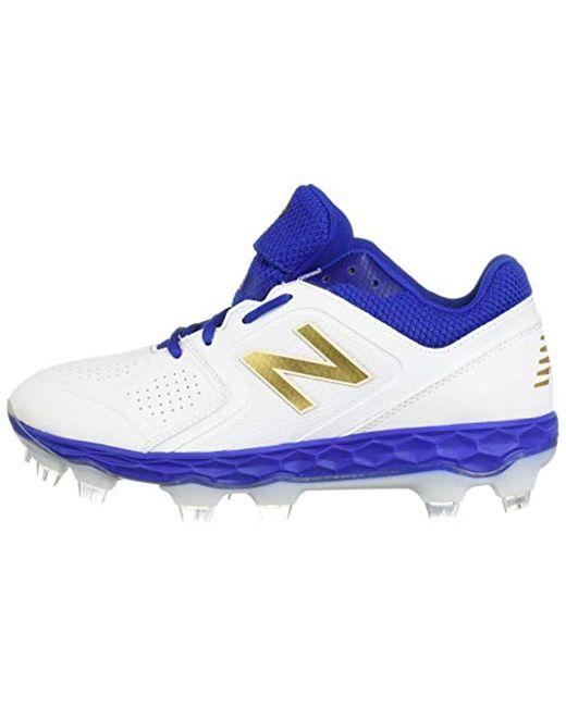 100% authentic 0ae0e af138 ... New Balance - Velo V1 Molded Baseball Shoe Royal white 6 B Us - Lyst ...