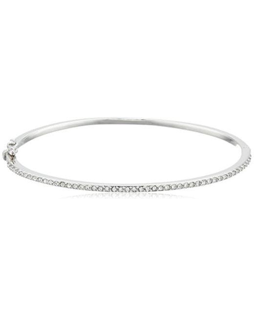 Judith Jack - Metallic Sterling Silver Crystal Hinged Bangle Bracelet - Lyst