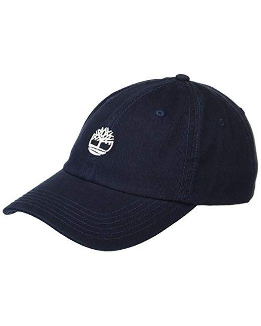 2154efb43bd07e Timberland - Blue Cotton Twill Baseball Cap for Men - Lyst ...