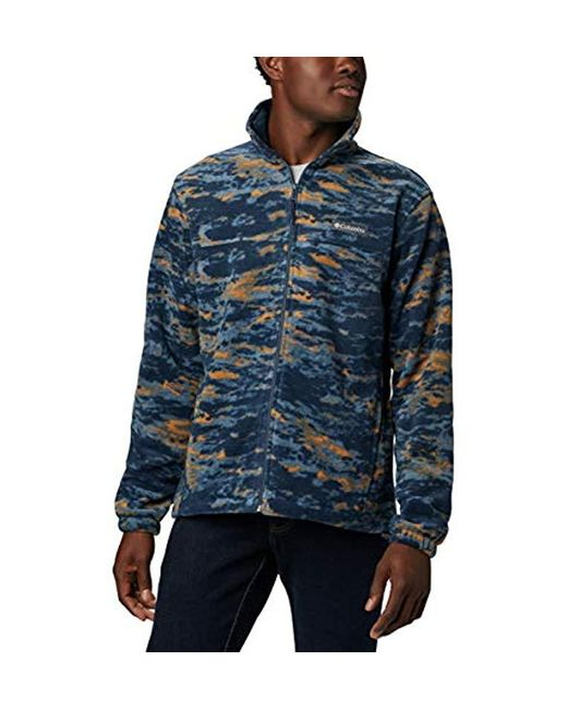 Columbia Blue Steens Mountain Printed Jacket for men