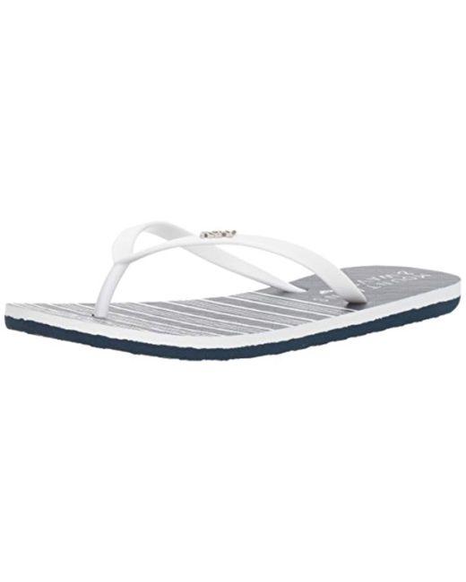 Roxy - Blue Viva Stamp Ii (black Stripe) Women's Sandals - Lyst
