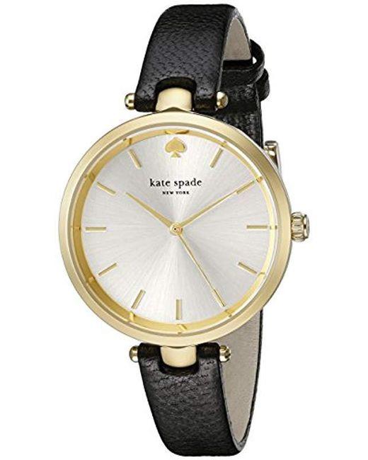 b0a1405399e Kate Spade - Ksw1010 Tiny Metro Analog Display Analog Quartz Black Watch -  Lyst ...