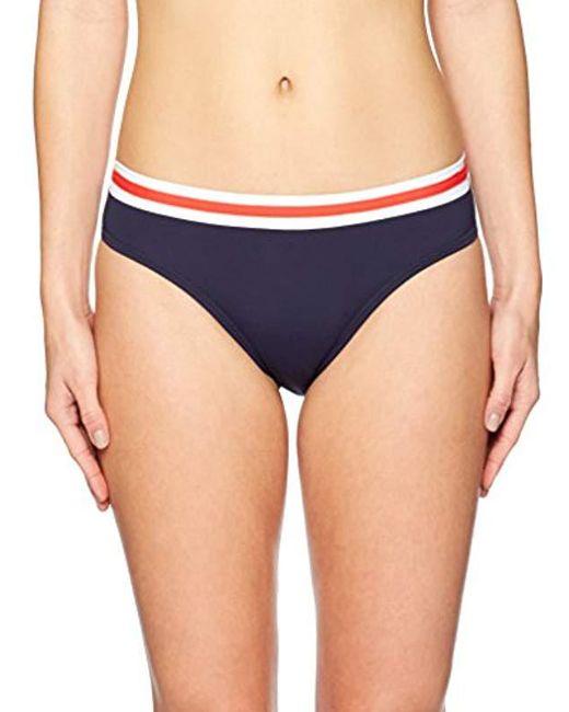 Nautica - Blue Colorblock Core Bikini Bottom - Lyst