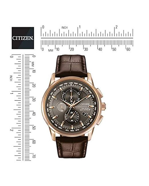 cceae4638 ... Citizen - Metallic Eco-drive World Chrono Atomic Timekeeping Watch With  Day/date, ...