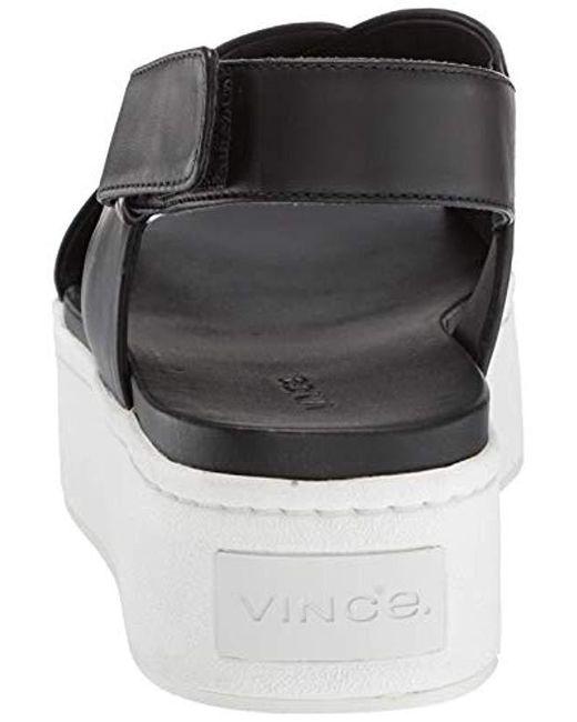 e7df5244e89ae Lyst - Vince Weslan Sport Sandal in Black - Save 58%