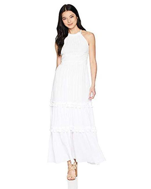 b1fee6c3b98 Lyst - Eliza J Petite Halter Maxi Dress in White - Save 6%