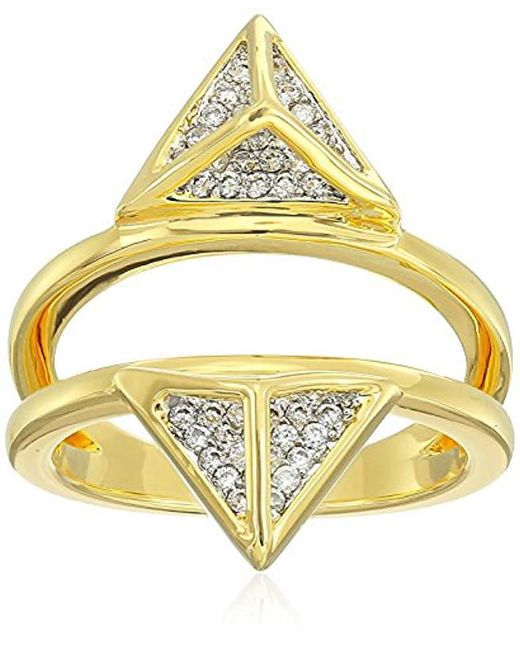 Noir Jewelry - Metallic Enclosed Ring - Lyst