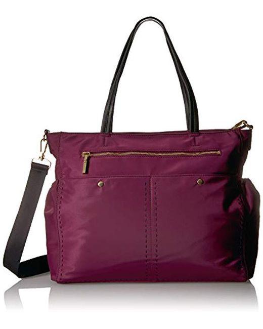MILLY - Purple Sold Stitch Diaper Bag, Burgundy - Lyst