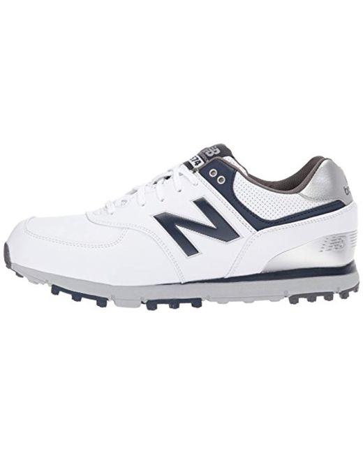 pretty nice ca85b d8819 ... New Balance - White 574 Sl Golf Shoe for Men - Lyst ...
