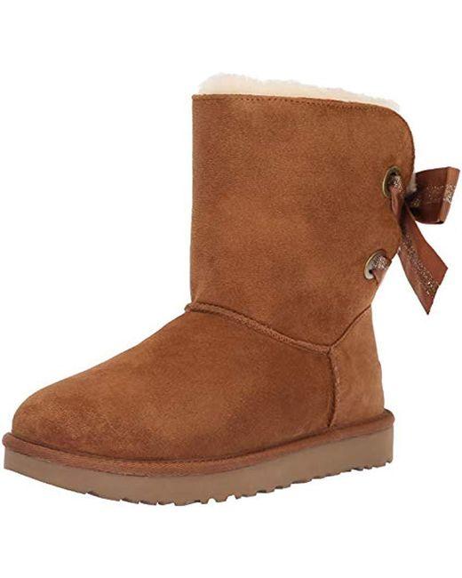 Ugg - Brown W Customizable Bailey Bow Short Fashion Boot, ...