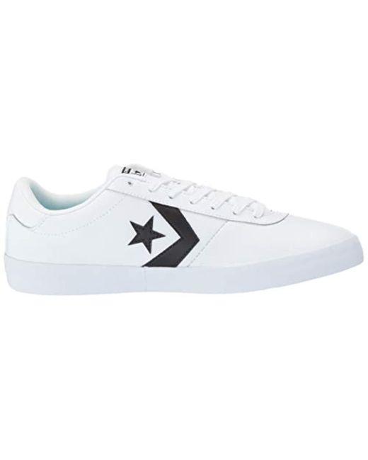 3838c5e3d77ece ... Converse - Black Point Star Leather Low Top Sneaker - Lyst ...