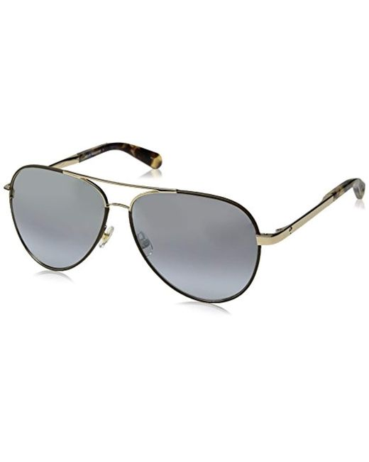 Kate Spade - Metallic Kate Spade Amarissa Aviator Sunglasses - Lyst
