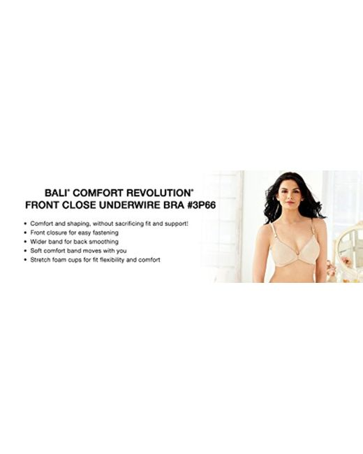 67a8eee61 ... Bali - Multicolor Comfort Revolution Front-close Shaping Underwire Bra  - Lyst ...